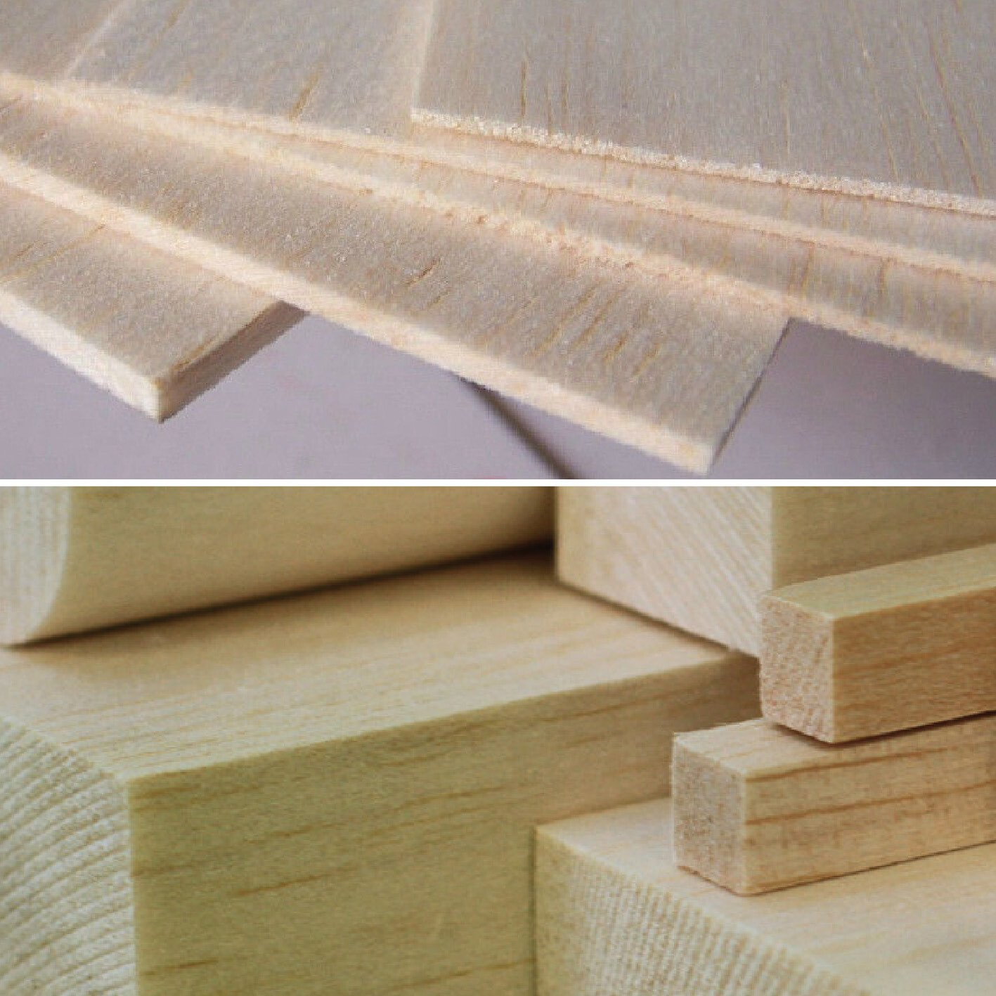 450mm Wooden balsa strips models crafts Various thickness widths available